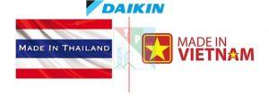 So Sanh Daikin Nhap Khau Thai Lan Voi Daikin San Xuat Tai Viet Nam