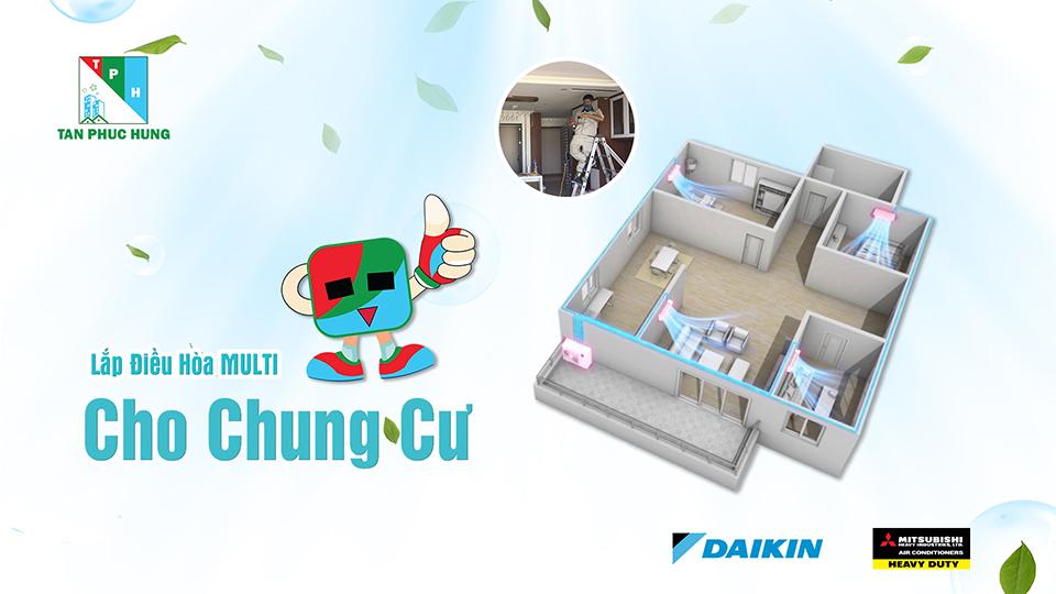 Lap Dat He Thong Dieu Hoa Multi Cho Chung Cu